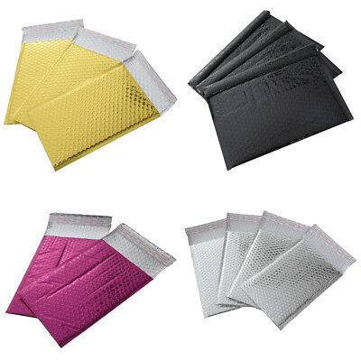 Shiny Metallic Foil Bubble Wrap Lined Padded Postal Mailers Envelope Bags