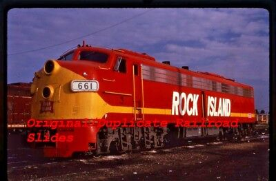 Dupe RR Slide Rock Island C.H.R.I.P.-661 E8-A Chicago IL.1973 Nice Roster (45)
