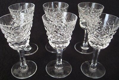 """Set Of 6 Waterford Crystal Alana Cordial Liqueur Glasses 3 3/8"""" Tall"""