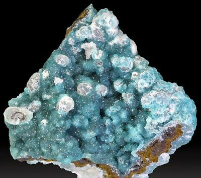 RARE ADAMITE BLEUE ET SMITHSONITE  5 x 5 x 2.1  GRECE  Miniature