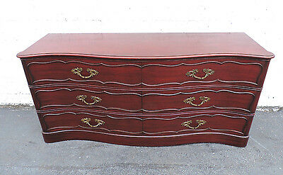 French Solid Mahogany Serpentine Long Dresser by Grosfeld 7656