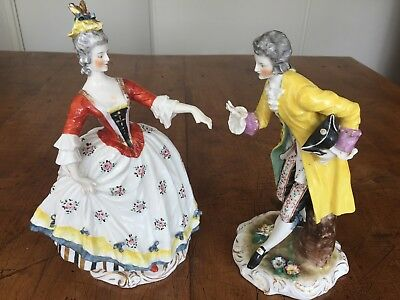 Couple Figurines Porcelaine de Saxe