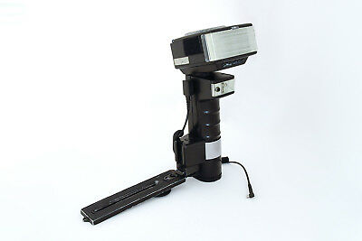Metz 45 CT-4 flashgun with secondary fill flash diffuser sync cord and bracket