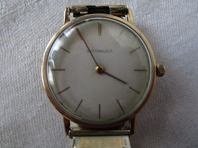 Vintage Retro 14kt Gold Filled WITTNAUER Men's Wristwatch Watch - Wonderful!