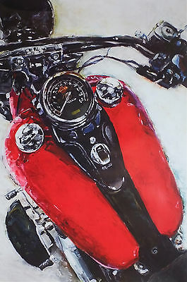 "Harley-Davidson Wall Poster Collectible Art ""softail Slim"" #204"
