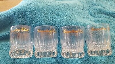Vintage Rare Canadian Club Whiskey Indented Finger Grip Highball/Rocks
