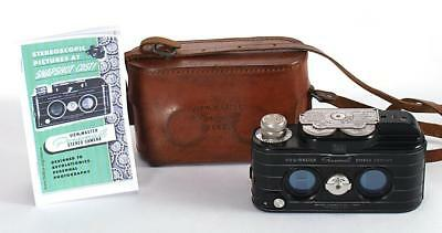 View-Master Personal Stereo Camera w/Leather Case - Tested & Working - Sawyer 3D