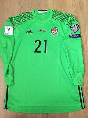 wales  adidas football  Player Issue Shirt Uk Postage Only