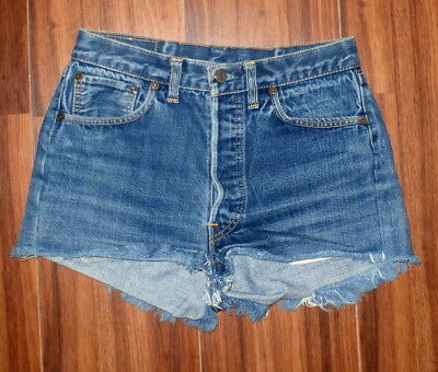 Vintage 60's Levi's #4 Button Fly Selvedge Jeans Shorts 2 / 26 ? See Measurement