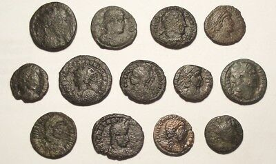 Lot of 13 Æ3-4 Ancient Roman Bronze Coins