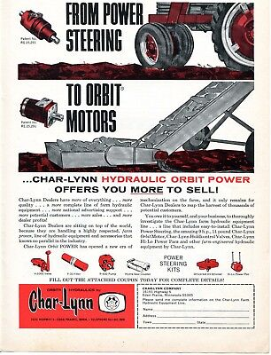 1969 Dealer Print Ad of Char-Lynn Tractor Power Steering & Hydraulic Orbit Motor