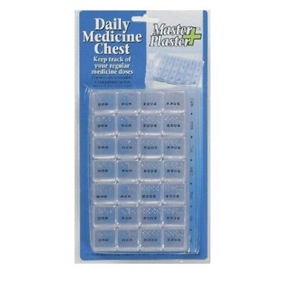 7 Day 28 Compartment Weekly Pill Box Organiser Storage Chest Box