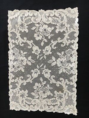 12  Vintage French Net Lace Place Mats