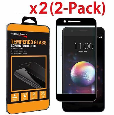 2-Pack Full Coverage Tempered Glass Screen Protector For LG K30 / K10 2018