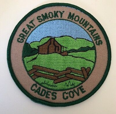 """Great Smoky Mountains Cades Cove, Tennessee Souvenir Patch, 3.5"""" Diameter"""