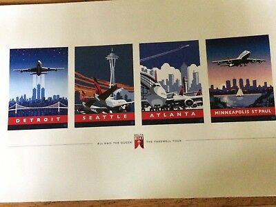 DELTA BOEING 747 RETIREMENT - 4 CITY FAREWELL - POSTER - 18 x 12 - NEW