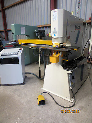 GEKA PUMA 80 E 500 PUNCH with SEMIPAXY CNC PUNCH TABLE. Price Inc. vat.