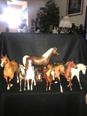 "Lot Of 9 Assorted Breyer Horses 7"",8"" And 9"" Tall"
