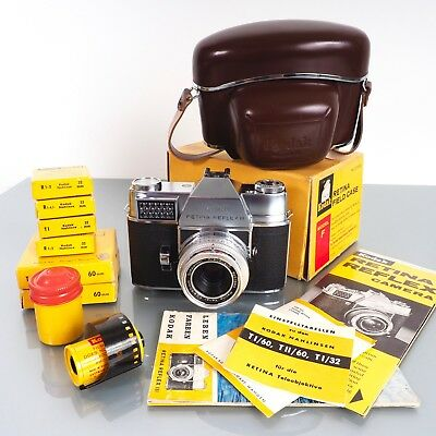SUPERB WORKING Kodak Retina Reflex III + many EXTRAS