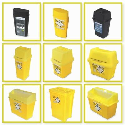 Frontier Sharps Bin Container Needle Waste Disposal Box, Medical Biohazard