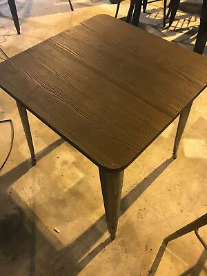 Set of 4 timber tables with raw steel legs, cafe, restaurant, shopfitting