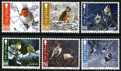ISLE OF MAN SG1698-1703 2011 CHRISTMAS, Birds in Winter  ~ UNMOUNTED MINT