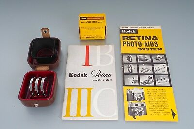 VERY NICE filters, hood, etc for Kodak Retina IIIC III C, reflex, etc