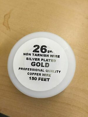 24ga NON TARNISH SILVER PLATED GOLD COPPER WIRE 100FT 4 DIY Craft Jewelry Making