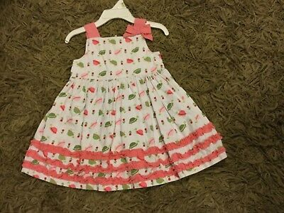 Girls Gymboree outlet dress size 12-18 months sleeveless w/turtles and bow