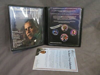 Brand New First Commemorative Mint The Obama Change Collection Set of 4 Coins