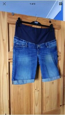 H&M denim Maternity Shorts Size 16