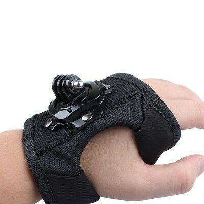 Adjustable Glove Hand Wrist Back Palm Arm Strap Rotate Mount For Gopro 1 2 3 4