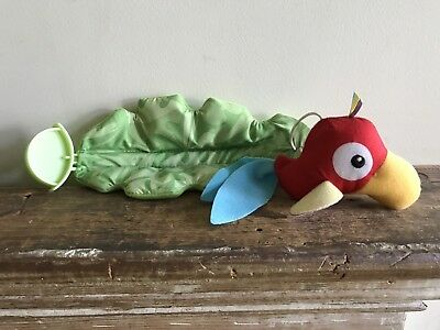 Fisher Price Rainforest Jumperoo Replacement Part  RED PARROT Leaf Plush Toy