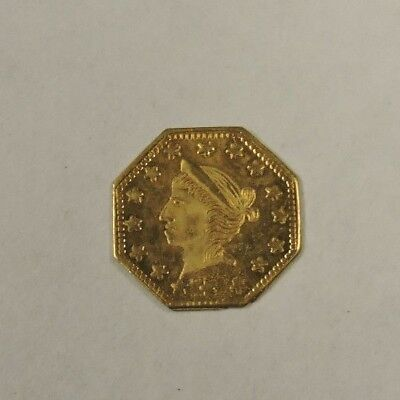 1857 California Gold Coin, 1/4?, Fractional, Uncirculated Prooflike, (VACE) SHW