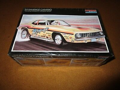 Monogram Model Kit 69 Camaro Rampage 1/24 Complete & Unbuilt Sealed