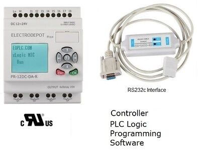 PLC Training Starter KIT Programmable Controller Programming Software RS232 USA