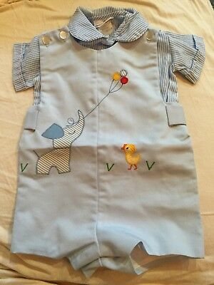 New Without Tags Jayne Copeland Vintage Boutique Boys Romper 12 Mo? Dog Chick