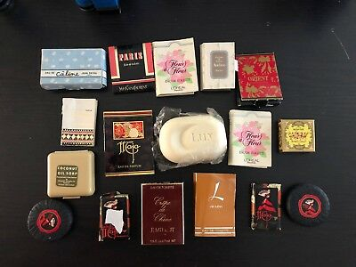 Vintage Collectable PERFUME SAMPLES & SOAPS Maja Belina YSL Orient Roger Gallet