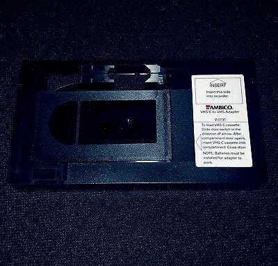 Ambico VHS-C To VHS Adapter Converter V-0731 ~ New ~ NO RESERVE ~