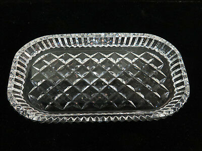 "Waterford Crystal Alana 8"" Oblong Tray"