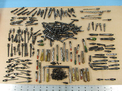 "Mixed Lot of 230+ Threaded Aircraft 1/4""-28 Drill Bits, Reamers, Extension, More"