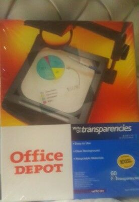 NEW-Office Depot Write-On Transparency Film, Box Of 60