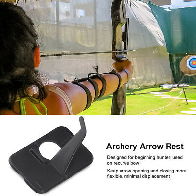 4xHunting Shooting Archery Recurve Bow Plastic Adhesive Left or Right Arrow Rest
