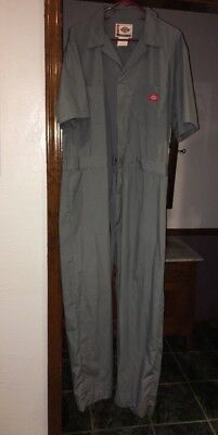 Dickies Short Sleeve Coveralls Coverall Grey XL Tall 46 - 48 Chest 34 Inseam