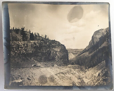 Stagecoach Road Yellowstone National Park Wyoming Travel Landscape Antique Photo