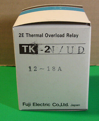 Fuji Electric Overload Relay Cat# 2NK1QV TK-2N/UD 12A-18A NEW IN BOX!