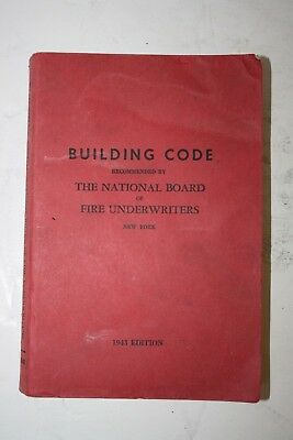 1943 New York Building Code Manual - National Board Of Fire Underwriters