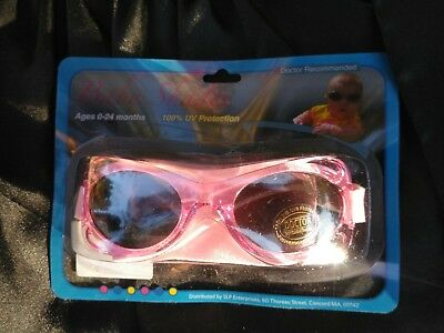 Baby Shades  Sunglasses  w/ strap 0-24months  PINK  100% UV Protection  Sealed