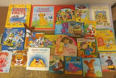 Lot of 20 Board Toddler Hardcover Picture DayCare Kid Child Books - UNSORTED S39