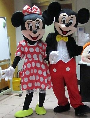 Parade Mickey u0026 Minnie Mouse Costume Mascot Halloween Cosplay Party Adult Outfit & PARADE MICKEY u0026 Minnie Mouse Costume Mascot Halloween Cosplay Party ...